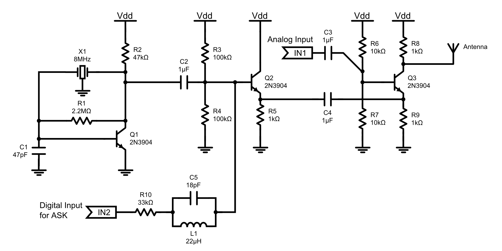 Artifartinsanity Arty Farty Insanity Single Chip Fm Transmitter Circuit Diagram Of The