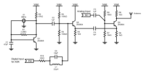 Circuit diagram of the transmitter.